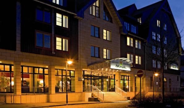 Facade på hotellet