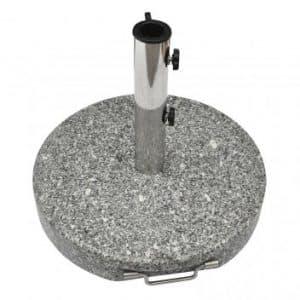 Parasolfod 35 kg i grå granit