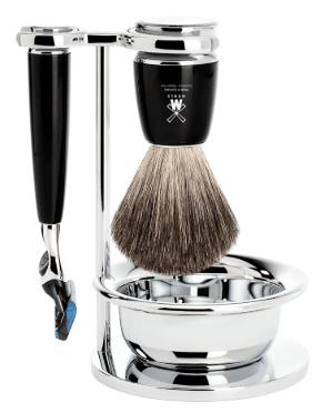 Mühle Barbersæt med Skraber, Barberkost, Holder og Skål