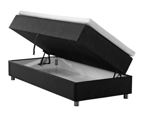 Nordisk Fjer seng med opbevaring 90x200 cm. - en eksklusiv og funktionel løsning til dig, der bor småt
