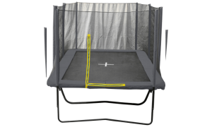 Trampolin firkantet dark grey